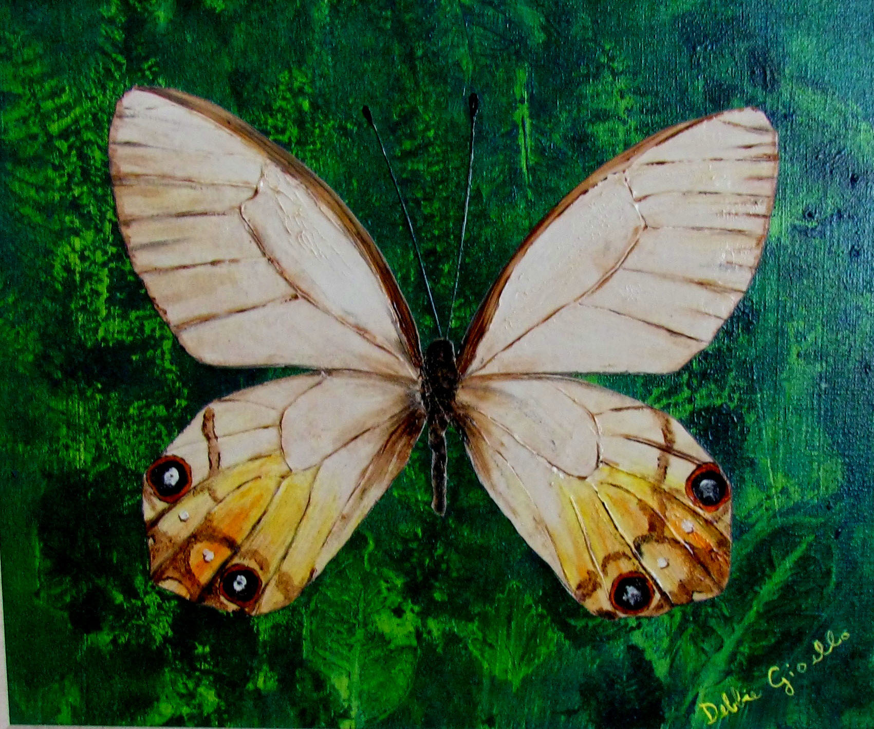 Realistic butterfly paintings - photo#3